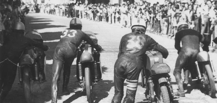 La course sur route à La Bañeza était une forme de religion depuis ses débuts.