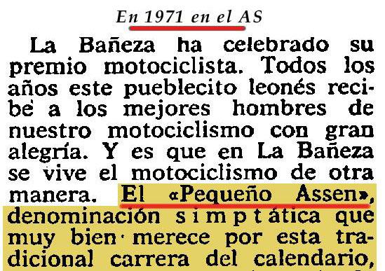 Fragmento de la crónica redactada para AS por Díaz Valdés tras la carrera de 1971
