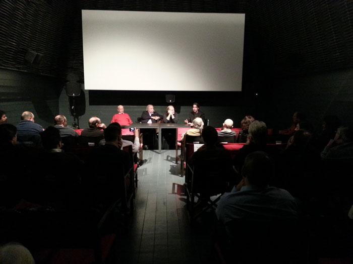 De izda a dcha: Javier Herrero, Díaz Valdés, Valentín Requena y Óscar Falagán.