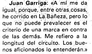Garriga para AS en Buenos Aires
