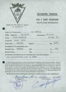 Un joven Garriga corriendo en La Bañeza en la época en que las bañezanas carreras eran parte del calendario de campeonatos nacionales.